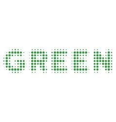 green text halftone icon vector image
