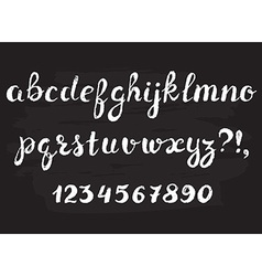 Handwritten chalked alphabet vector image