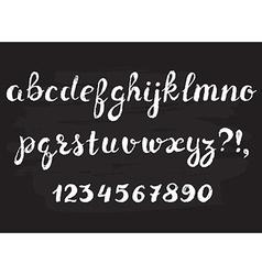 Handwritten chalked alphabet vector