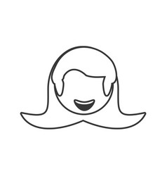 Head girl female avatar outline vector