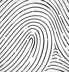 Imprint a human finger vector image
