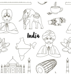 India set pattern vector