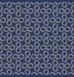 infinity sign minimal seamless pattern design vector image