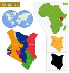 Kenya map vector image