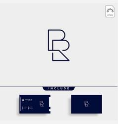 Letter br rb r b logo design simple vector