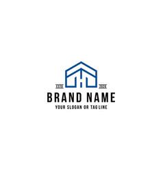 Letter h home logo design vector