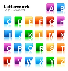 Lettermark logo elements vector