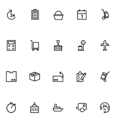 Logistics delivery Icons 4 vector