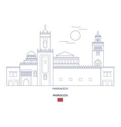 marrakech city skyline vector image