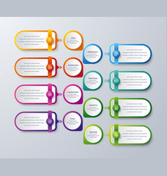 modern infographic with 8 steps vector image