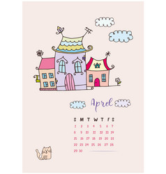 month calendar april 2018 fabulous home vector image