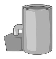 Oil refinery plant icon gray monochrome style vector