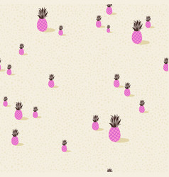 pink pineapple summer seamless pattern background vector image