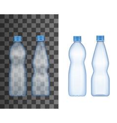 plastic bottle drink package realistic mockup vector image