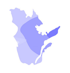 Political map of quebec vector