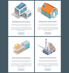 Residential and industrial page vector