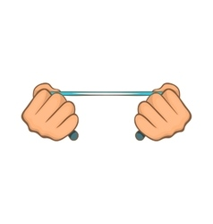 Rope in hands icon cartoon style vector image