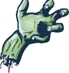 Severed halloween style hand illustrat vector