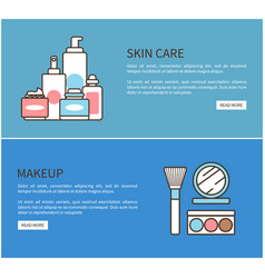 skin care makeup web poster vector image