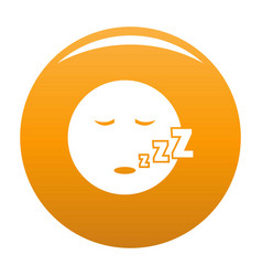 sleep smile icon orange vector image