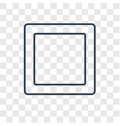 Square concept linear icon isolated on vector