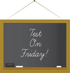 Test on Friday vector