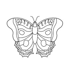 Top view beautiful monarch butterfly vector