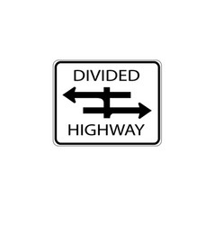 Usa traffic road signs youre approaching a vector