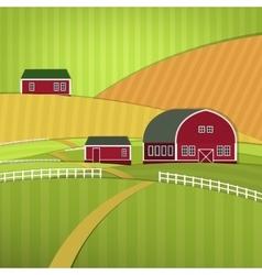 01 eco farm landscape vector