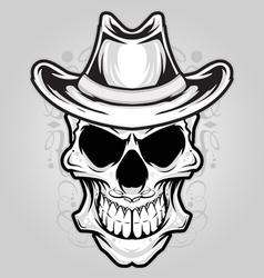 angry skull ornament vector image vector image