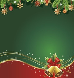 christmas backgroundtraditional straw decorations vector image vector image