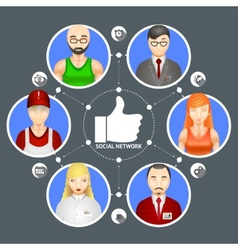 People in a social network vector image vector image