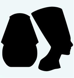 Portrait of Pharaoh and Nefertiti vector image vector image