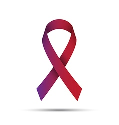 Red-purple ribbon isolated on white background vector image