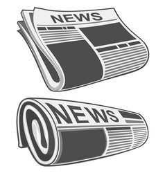 rolled newspaper vector image vector image