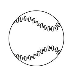 baseball ball sport game thin line vector image