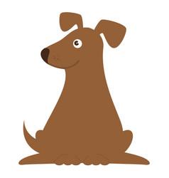 cute dog mascot icon vector image vector image