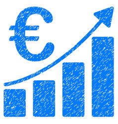 euro bar chart grunge icon vector image vector image