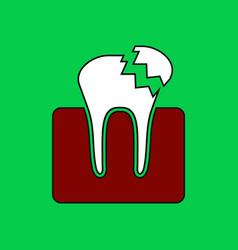 Flat icon design collection broken tooth vector