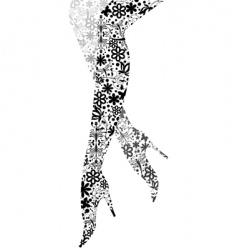 glamour fashion legs vector image vector image