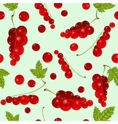 red currants Seamless vector image