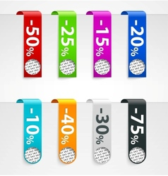 Sale paper tags announcements vector image vector image
