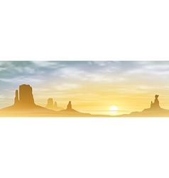 A Desert Landscape vector image vector image