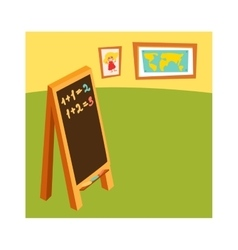 Classroom without student school class with wooden vector image