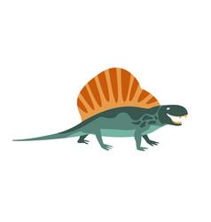 dimetrodon green dinosaur of jurassic period vector image