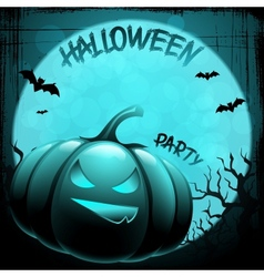 EPS 10 Halloween background with moon bats and vector image