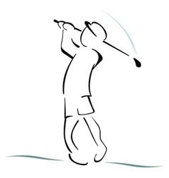 Golf symbol vector image vector image