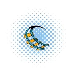 Roller coaster ride icon comics style vector image