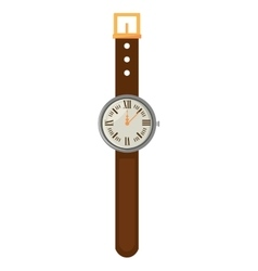 wristwatch clock isolated icon vector image