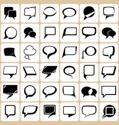 36 speech balloons set vector image